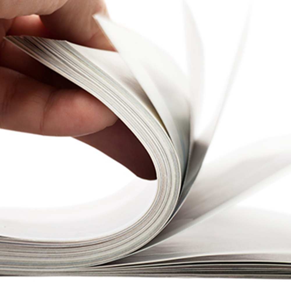 Hand going through pages